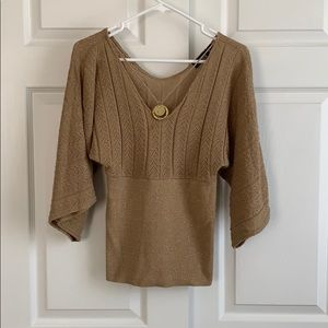A.Byer Brien and Gold Blouse